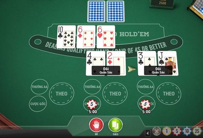 Huong dan cach choi 2 Hand Casino Hold'em