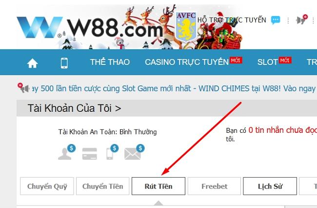Huong dan cach rut tien W88 chinh xac nhat