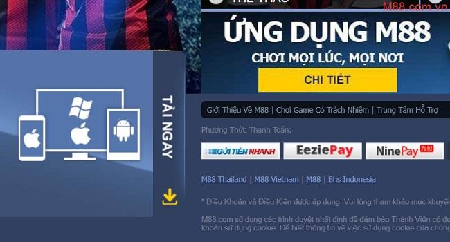 huong dan download app m88