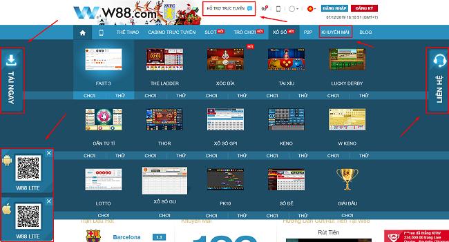 Cach tai App W88 tren cua hang CH Play & App Store